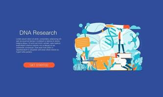 Science laboratory vaccine research vector illustration concept template background can be use for presentation web banner UI UX landing page