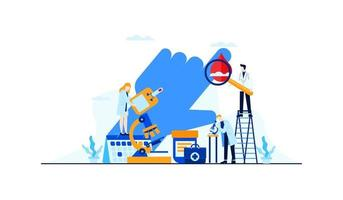 diabetes vector flat illustration blood test sugar level doctor's research for treatment concept design template banner