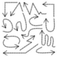 conjunto de elementos de estilo flecha vector