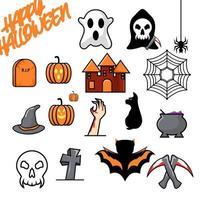 Halloween set design vector