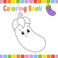 Coloring book for kids. Cheerful character. Vector illustration. Cute cartoon style. Fantasy page for children. Black contour silhouette. Isolated on white background.