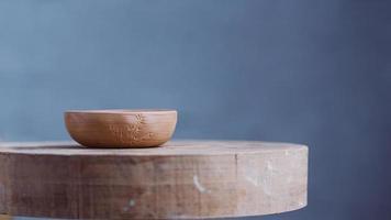 cuenco de arcilla artesanal de arcilla yixing en foto