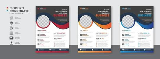 Corporate Business flyer template vector design Flyer Template Geometric shape used for business poster layout business flyer template with minimalist layout Graphic design layout with triangle graph