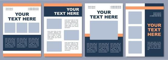Business proposal brochure template. Marketing material. Flyer, booklet, leaflet print, cover design with copy space. Your text here. Vector layouts for magazines, annual reports, advertising posters