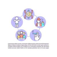 People at risk concept line icons with text. PPT page vector template with copy space. Brochure, magazine, newsletter design element. Types of diabetes linear illustrations on white