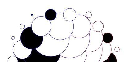 diseño de vector azul oscuro, rojo con círculos.