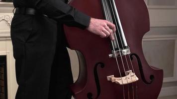 orquesta sinfónica el hombre que toca el violonchelo. foto