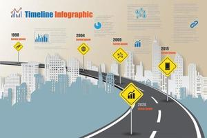Business roadmap timeline infographic expressway concepts designed for abstract background template milestone diagram process technology digital marketing data presentation chart Vector illustration