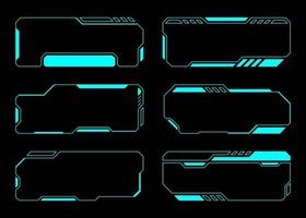 Abstract frame set technology future Interface Hud . vector