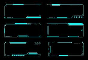 Abstract frames technology futuristic interface hud vector design.