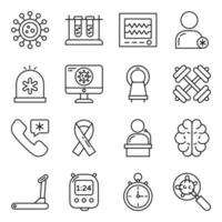 Pack of Covid 19 Linear Icons vector