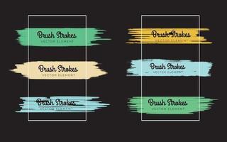 Brush strokes sets. Vector paintbrushes set. Grunge design elements. Rectangle text boxes, speech bubble