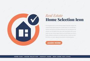 home selection icon design vector
