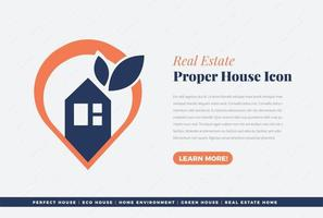 Perfect home or finding home icon vector