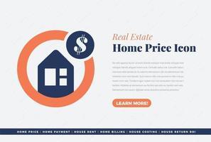 Home Price icon Design vector