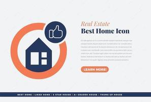diseño de icono de casa que más le gusta vector