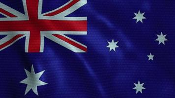 viftande flagga australien video