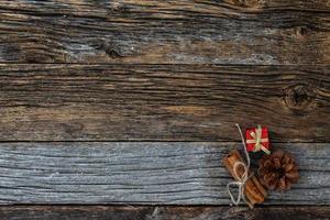 navidad tema rústico madera resistida antecedentes foto
