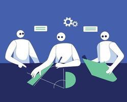 Designer teamwork illustration concept vector