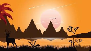 Forest Night illustration vector