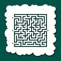 Abstract square maze. Game for kids. Puzzle for children. Find the right path. Labyrinth conundrum. Flat vector illustration isolated on color background.
