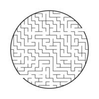 Abstract round maze. Game for kids and adults. Puzzle for children. Labyrinth conundrum. Flat vector illustration isolated on white background.