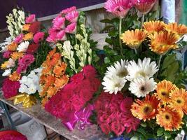 multiple colored flower bouquet closeup photo