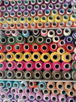 multiple colored yarn background photo