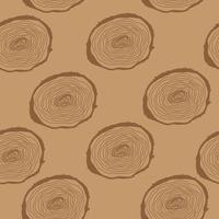 Stump. Muzzle. Seamless Pattern Background. Vector Illustration