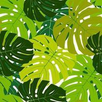 Palm Leaf Seamless Pattern Background Vector Illustration EPS10.