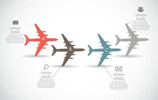 Airplane Infographic Template for Business Vector Illustration