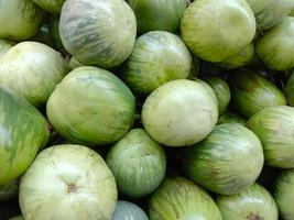 tasty and healthy green colored Brinjal stock photo