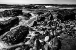 rocky coastline in newport rhode island photo