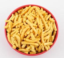 Indian Salted Food Gathiya photo