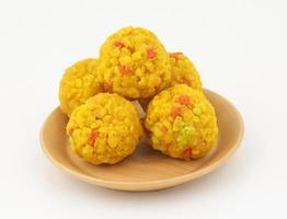 Indian Sweet food motichur laddu photo