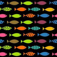 Mult Fish Seamless Pattern Background Vector Illustration