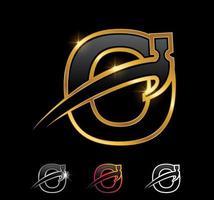 Golden Monogram Hammer Letter O vector