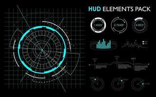 elementos futuristas de la interfaz hud. vector