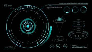 Futuristic hud user interface black. Vector illustration.