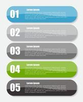 plantillas de infografía para la ilustración de vector de negocio. Eps10