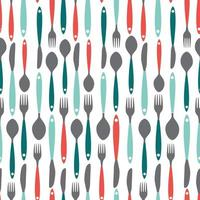 patrón sin fisuras con tenedores, cucharas y cuchillos. ilustración vectorial vector