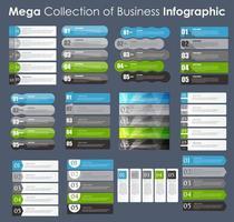 conjunto de plantillas de infografía para la ilustración de vector de negocio