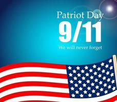 Patriot Day the 11-9 Label, We Will Never Forget vector