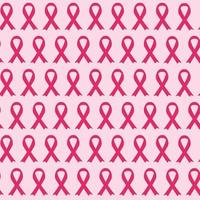 Breast Cancer Awareness Pink Ribbon Seamless Pattern Background Vector Illustration