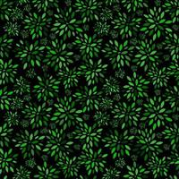 Flower Leaves Pattern Background Vector Illustration