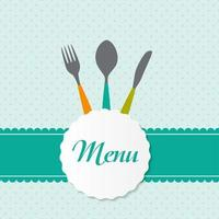 fondo con tenedores, cucharas y cuchillos. ilustración vectorial vector