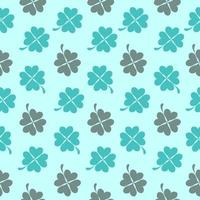 Abstract Natural Clover Seamless Pattern Background Vector Illustration