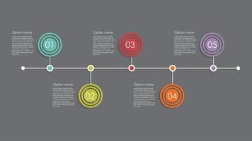 plantillas de infografía para la ilustración de vector de negocio