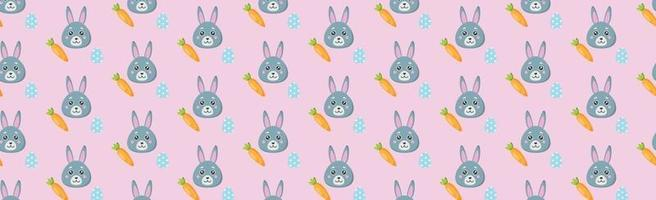 Seamless pattern, holiday elements, Easter bunny vector