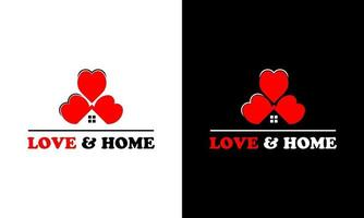 Ilustration vector graphic of home concept on the love logo design template